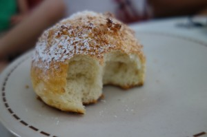 Padaria's sweet bread with coconut flakes