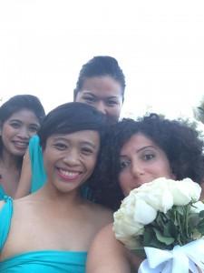 bridesmaid took a selfie.. :)