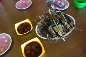 "delicious food named ""pengkang"". My high school 's friend, Dian treated me :)"