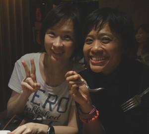 with my Thai friend, Yui had som tum in Siam, BKK