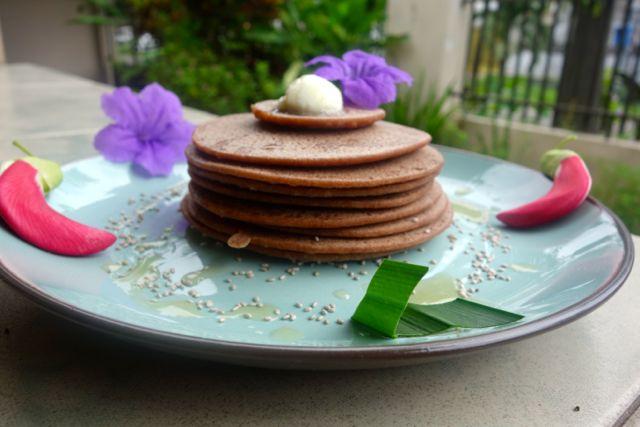 red rice pancake :)