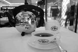 enjoying TWG tea in Siam Paragon, Bangkok