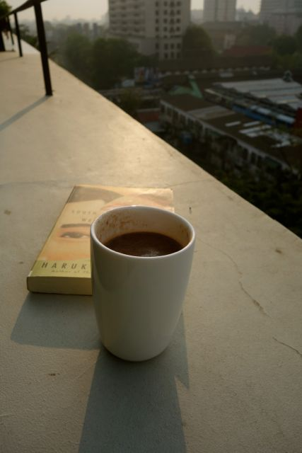 a really good hot chocolate to enjoy in a friend's apartment in Yangon, Myanmar