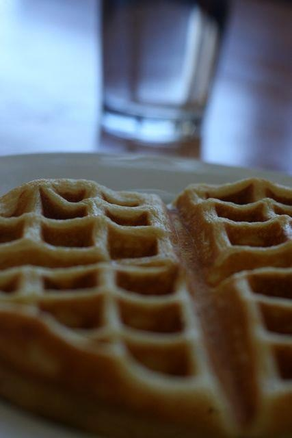 waffle at Cafe Berlin, COMO