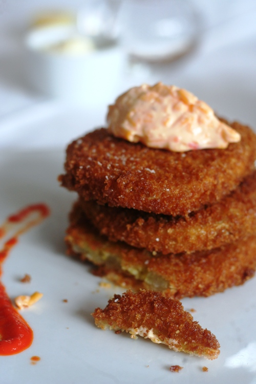 my favorite food in the South, fried green tomatoes.