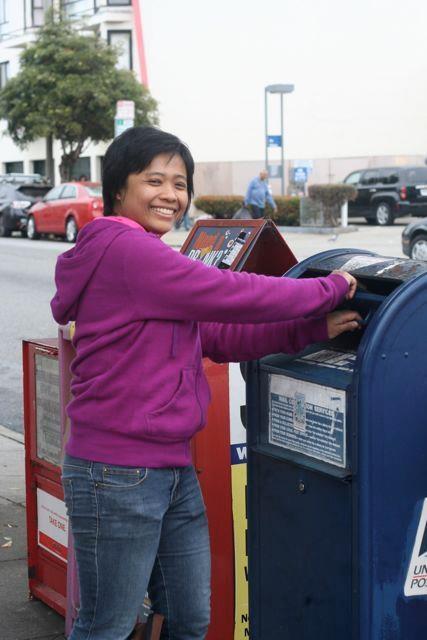 post box in San Francisco, CA