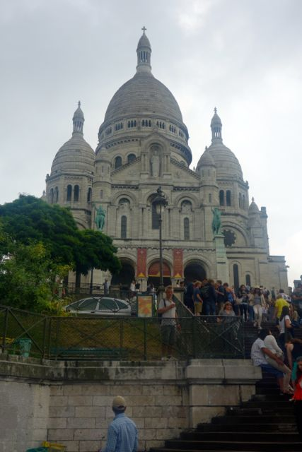 Basilica Sacre Coeur or Basilica the Sacred Heart of Jesus in Montmartre.